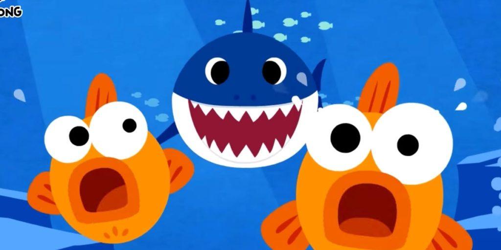 Baby Shark Chasing Two Goldfish